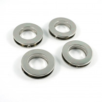 """Emmaline Bags Screw Together Grommets 20mm (3/4"""") Round in Silver Nickel - 4pk"""