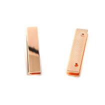 "Emmaline Bags Strap End Cap Rectangular 40mm (1-1/2"") Copper (Rose Gold) - 4pk"