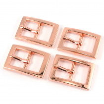 "Emmaline Bags Buckle w/ Center Bar 20mm (3/4"") Copper (Rose Gold) - 4pk"