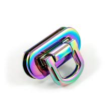 Emmaline Bags Oval Flip Lock Iridescent Rainbow