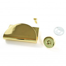 Emmaline Bags Half Moon Magnetic Clasp Gold