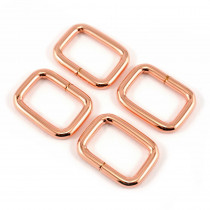 "Emmaline Bags Rectangular Rings 20mm (3/4"") Copper (Rose Gold) - 4pk"