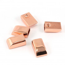 Emmaline Bags Metal Zipper Ends Copper (Rose Gold) - 5 Pack