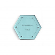 English Paper Piecing Acrylic Template -  Hexagon 1""