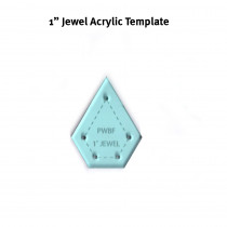 English Paper Piecing Acrylic Template -  Jewel 1""