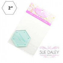 English Paper Piecing Acrylic Template -  Hexagon 2""