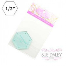 English Paper Piecing Acrylic Template -  Hexagon 1/2""