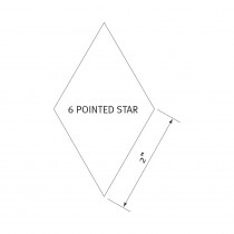 "English Paper Piecing Pre-cut Papers - 6 Pointed Star 2"" - 100pk"