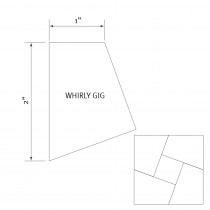 "English Paper Piecing Pre-cut Papers - Whirly Gig 1"" - 50pk"