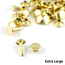 Emmaline Bags Metal Double-Capped Rivets Gold Extra Large Size 9mm x 12mm - 50pk