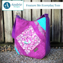 Feature Me Everyday Tote Sewing Pattern by Andrie Designs