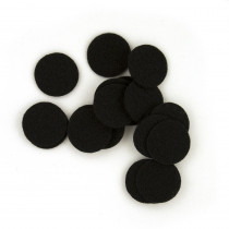 "Black Felt Spots 25mm (1"") 10 pairs"