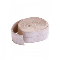 "byAnnie Fold-over Nylon elastic 15mm (5/8"") wide x 1.8m (2yd) Natural"