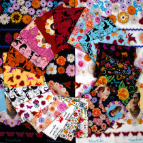 Frida Kahlo Fat Quarter and Panel Pack 22pc by Robert Kaufman