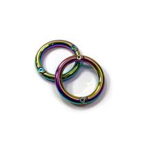 "Emmaline Bags Gate O-Ring Iridescent Rainbow 25mm (1"") - 2pk"