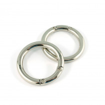 "Emmaline Bags Gate Ring Silver 33mm (1-1/4"") - 2pk"