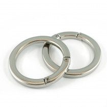 "Emmaline Bags Gate O-Ring Silver 40mm (1-1/2"") - 2pk"