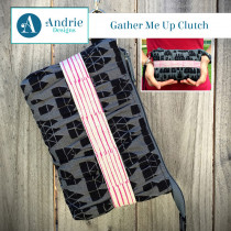 Gather Me Up Clutch Sewing Pattern by Andrie Designs (formally Two Pretty Poppets)