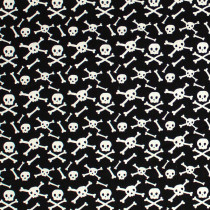 Cats Bats And Jacks Glow In The Dark Skulls Black by Riley Blake Designs