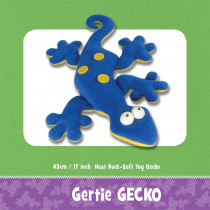 Gertie Gecko Heat Pack Soft Toy Sewing Pattern by Funky Friends Factory