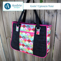 Goin' Uptown Tote Sewing Pattern by Andrie Designs