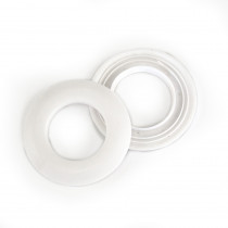 "Voodoo Bag Hardware Plastic Snap Together Grommet 25mm (1"") White"
