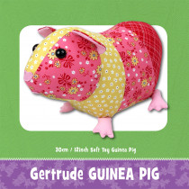 Gertrude Guinea Pig Soft Toy Sewing Pattern by Funky Friends Factory