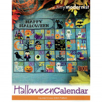 Halloween Calendar Cross Stitch Chart by The Tiny Modernist
