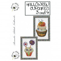Halloween Cupcakes 3 and 4 Cross Stitch Chart from Alessandra Adelaide Needlework