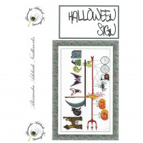 Halloween Sign Cross Stitch Chart from Alessandra Adelaide Needlework