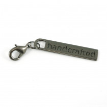 Emmaline Bags Zipper Pull: Handcrafted Gunmetal