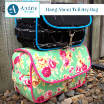 Hang About Toiletry Bag Sewing Pattern by Andrie Designs