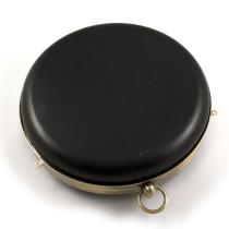 No-Sew Hard Shell Purse Frame - Round (18cm) Antique Brass