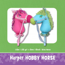 Harper Hobby Horse Soft Toy Sewing Pattern by Funky Friends Factory