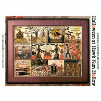 Halloween At Hawk Run Hollow Cross Stitch Chart from Carriage House Samplings