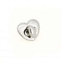 Emmaline Bags Heart Shaped Bag Lock Silver
