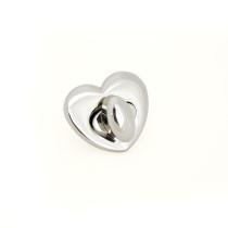 Emmaline Bags Heart Shaped Bag Lock Silver