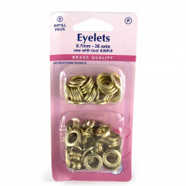 "Hemline Eyelet Refills 8.7mm (5/16"") 36pc Gold"