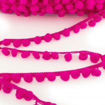 Pom Pom Trim Regular Fluro Pink