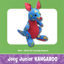 Joey Junior Kangaroo Soft Toy Sewing Pattern by Funky Friends Factory