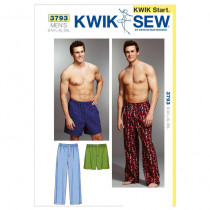 Kwik Sew K3793 - Men's Sleep Pants and Shorts Patterns (S - XXL)