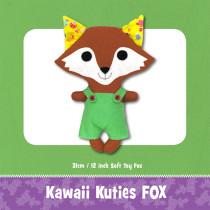 Kawaii Kuties Fox Toy Pattern by Funky Friends Factory