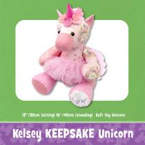 Kelsey Keepsake Unicorn Soft Toy Sewing Pattern by Funky Friends Factory