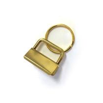 "Voodoo Bag Hardware Key Fob Hardware 25mm (1"") Gold - 5pk"