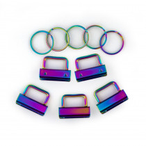 "Voodoo Bag Hardware Key Fob Hardware 31mm (1-1/4"") Iridescent Rainbow - 5pk"