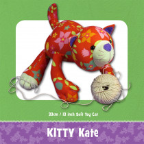 Kitty Kate Soft Toy Sewing Pattern by Funky Friends Factory