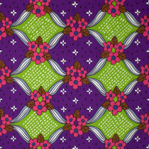 Retro Jumbo Floral Purple by Kokka Fabric