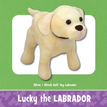 Lucky the Labrador Soft Toy Sewing Pattern by Funky Friends Factory