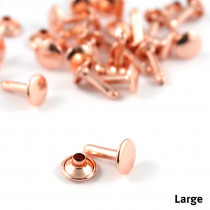 Emmaline Bags Metal Double-Capped Rivets Copper Large Size 9mm x 10mm - 50pk