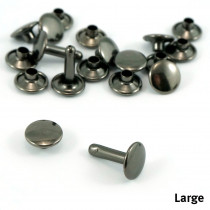 Emmaline Bags Metal Double-Capped Rivets Gunmetal Large Size 9mm x 10mm - 50pk